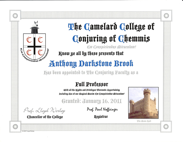 The Chamelard College of Conjuring at Chemmis