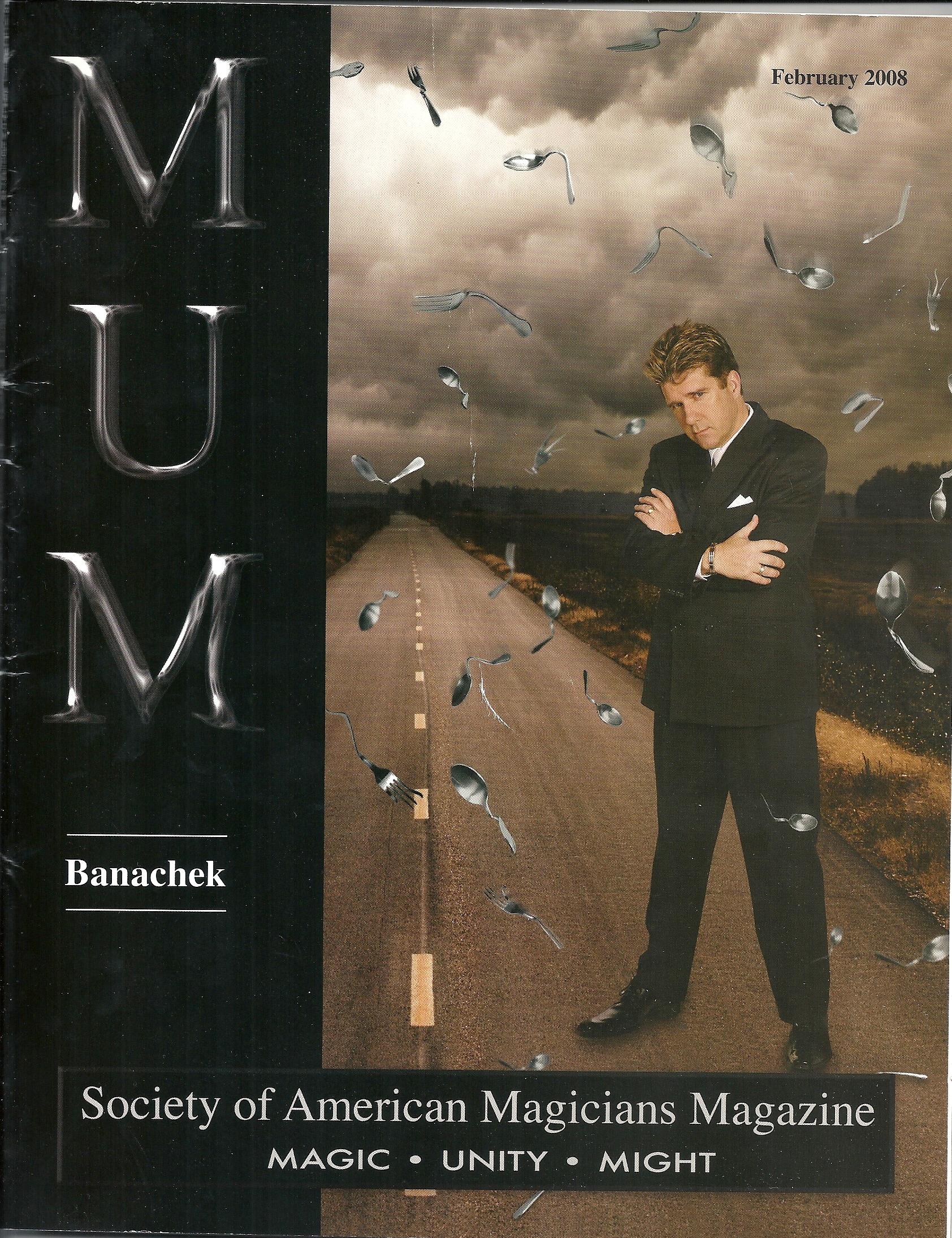 MUM Magazine Banachek Cover Feb 2008