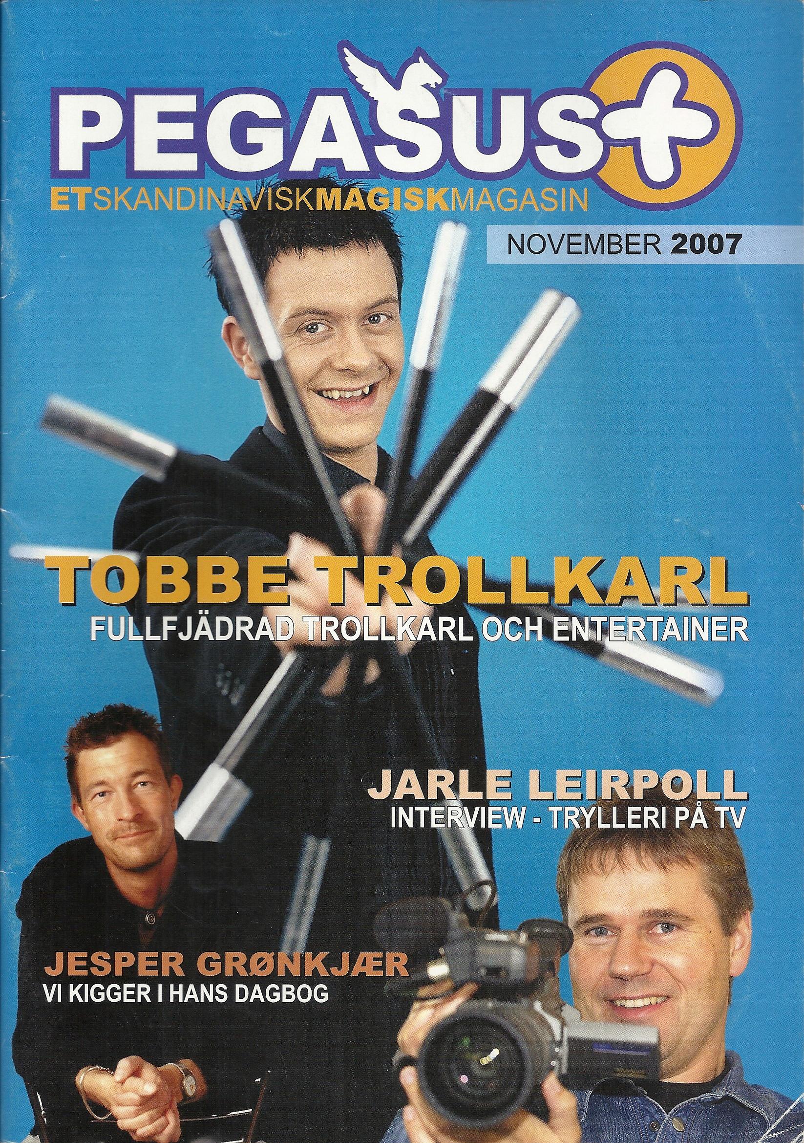 Pegasus Magic Magazine Nov 2007 Cover