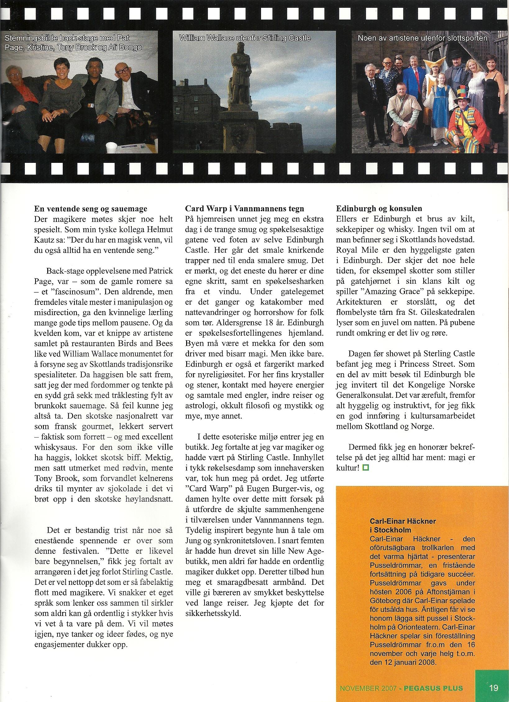 Pegasus Magic Magazine Nov 2007 Amthony Darkstone