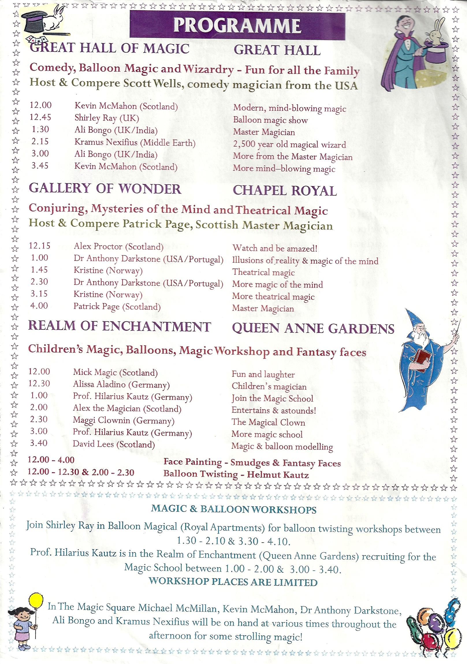 Castle of Magic Sorcerers' Return Scotland Magic Convention - Anthony Darkstone
