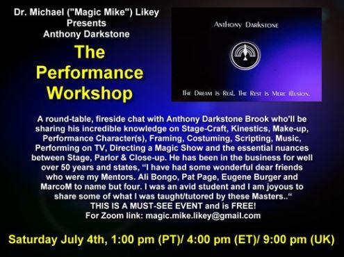 Magic Mike Performance Workshop